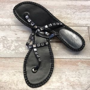 Cole Haan Black Sandal With Jewel Detail Size 9.5
